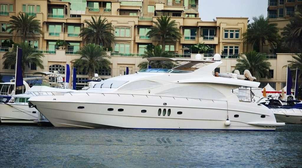 Luxury boat docked